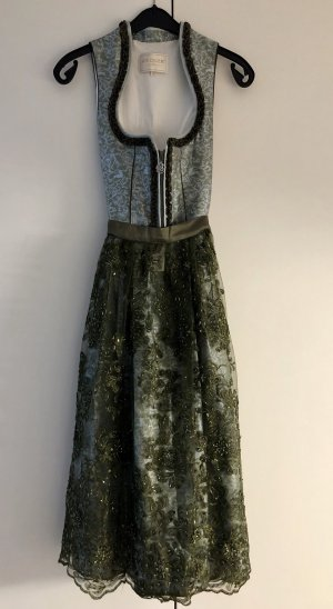 Krüger Collection Dirndl in Grün Mit Stehkragen & Glitzerschürze *34* UVP: 249€