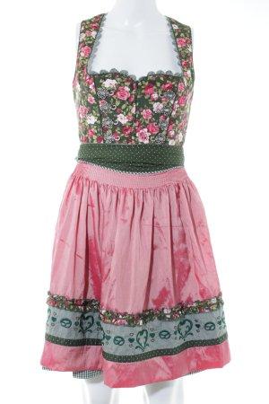 bc2ca3d06c915 Krüger Dirndl grün-pink Blumenmuster Country-Look