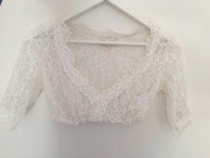 Krüger Dirndl Blusa in merletto bianco-bianco sporco