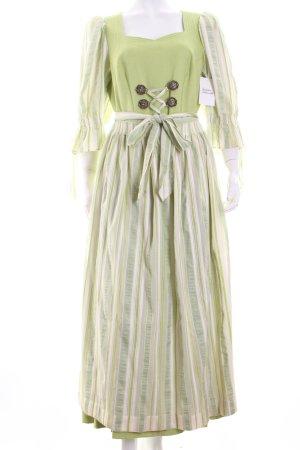 Krüger Vestido Dirndl verde claro-blanco estilo country