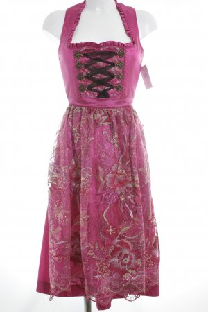 Krüger Dirndl magenta Country-Look