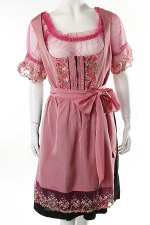 Krüger Dirndl rosa-schwarz klassischer Stil