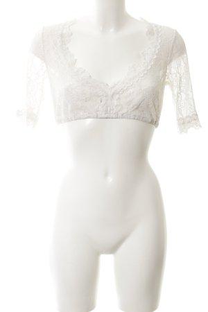 Krüger feelings Blusa tradizionale bianco motivo floreale stile classico