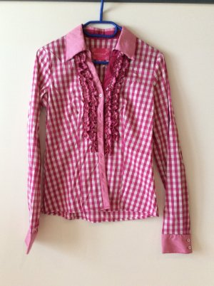 Krüger Blusa tradizionale bianco-rosa
