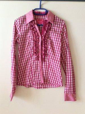 Krüger Folkloristische blouse wit-roze