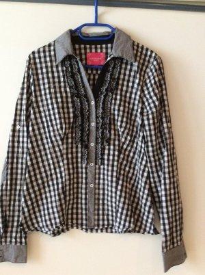 Krüger Folkloristische blouse zwart-wit