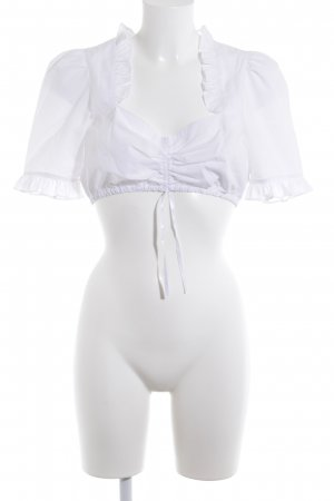 Krüger Folkloristische blouse wit elegant