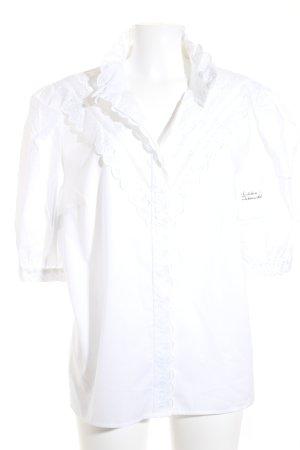 Krüger Folkloristische blouse wit klassieke stijl