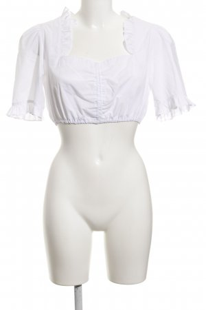 Krüger Folkloristische blouse wit simpele stijl