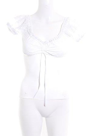 Krüger Folkloristische blouse wit vintage uitstraling