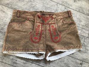 Krüger Trachtenhose Textil-Short Used Comfy (rot)