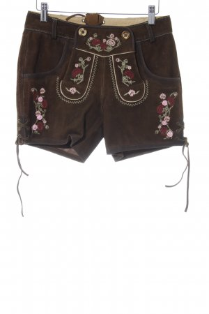 Krüger Traditional Leather Trousers brown leather