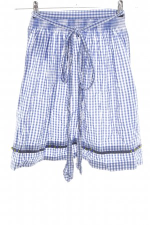 Krüger Traditional Apron blue-white allover print casual look