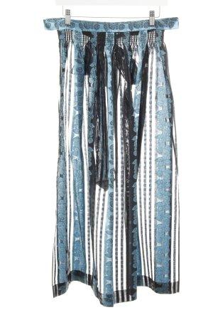 Krüger Trachtenschürze schwarz-hellblau florales Muster Elegant
