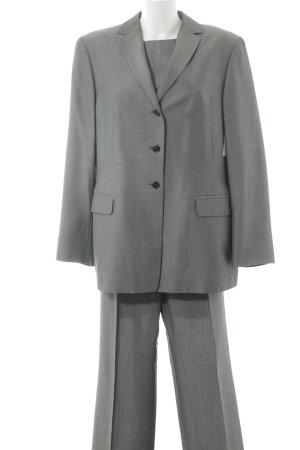 KS Selection Tailleur-pantalon gris clair-argenté style d'affaires