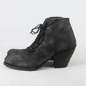 Booties anthracite leather