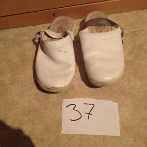 Mary Janes white leather