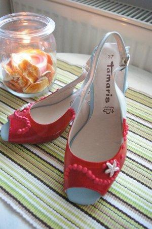 Künstler-Schuhe mit Glitzer-Seestern (Swarovski)