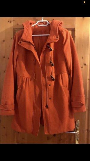 H&M Divided Cappotto con cappuccio arancione-arancione scuro