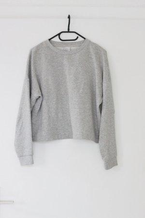 kürzeres Basic Sweatshirt in hellgrau