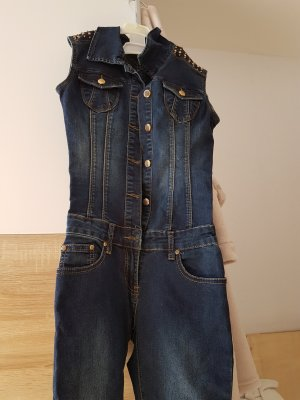 Kürzte Overall jeans