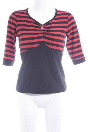 Küsten Luder Ringelshirt schwarz-rot Streifenmuster Casual-Look