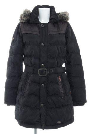 Kuhjo Abrigo de plumón negro look casual