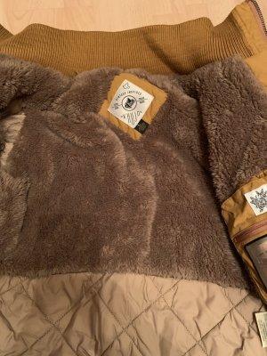 Kuhjo Veste d'hiver brun sable