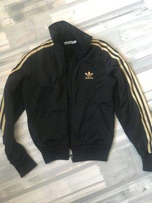 Kult Adidas Jacke schwarz Gold - 38 - Np 199€❤️weihnachts Rabattaktionen