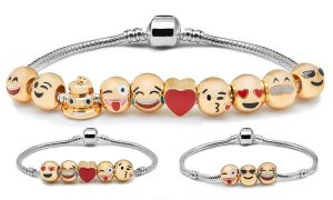 *** Kult Armband für Emoji Fans Must have Beads Charms Trend *** NEU