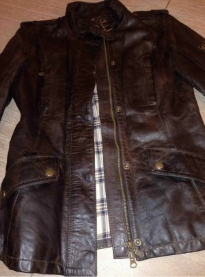 Belstaff Leather Jacket taupe leather