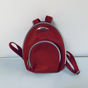 Bree Kindergarden Backpack red-silver-colored