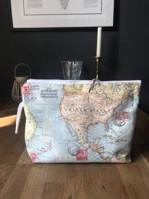 Kulturbeutel Kosmetiktasche Neu USA Weltkate Landkarte