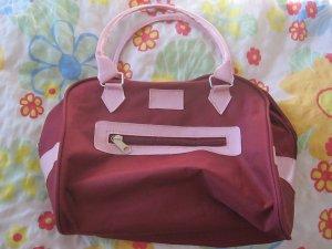Stoffen tas karmijn-rosé