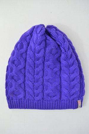 Knitted Hat dark violet wool
