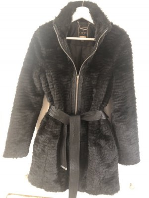 Lipsy Fake Fur Coat black