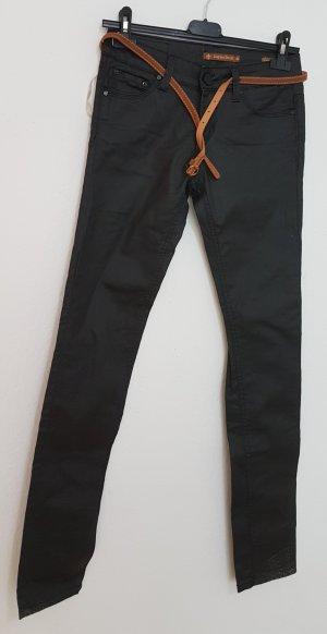 Daysie Pantalón de cuero negro