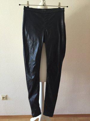 Kunst-Lederhose Hose für Silvester-Party schwarz S