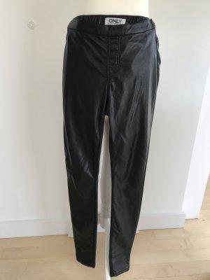 Kunst Lederhose Only skinny Röhre elastisch dG S 34-36 schwarz Gothic wie Neu