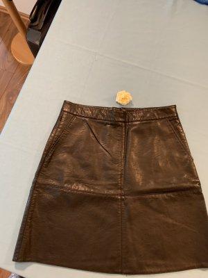 Zara Basic Leather Skirt black