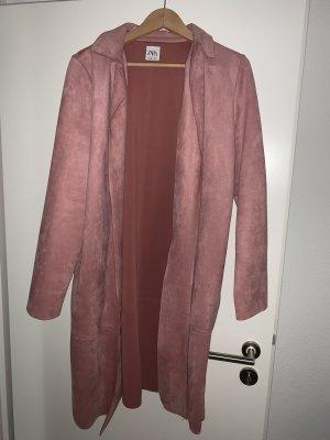 Zara Manteau en cuir multicolore