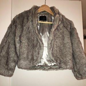 Vero Moda Fake Fur Jacket grey-black brown polyacrylic