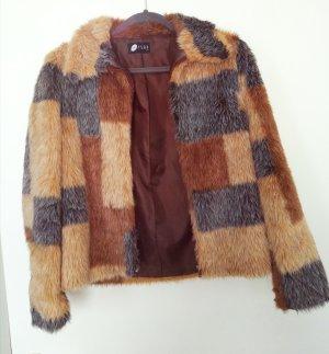 Kunstfell Jacke, Faux Fur im Vintage Look