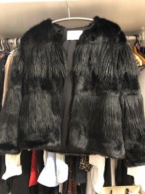 Zara Chaqueta de piel negro