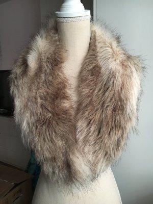 H&M Snood bronze-colored-light brown fake fur