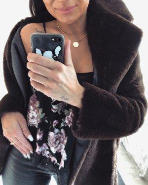 Zara Cappotto in eco pelliccia multicolore
