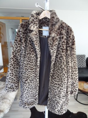 Minimum Fake Fur Coat light brown-dark brown polyester