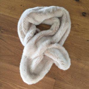 Kunstfell-Schal beige von Zara