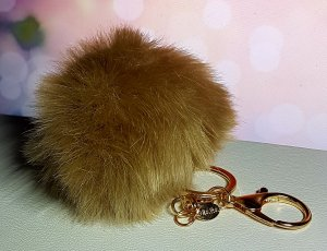Zara Key Chain light brown-gold-colored