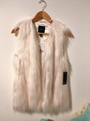 Forever 21 Smanicato di pelliccia bianco sporco